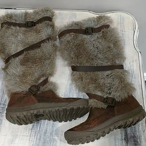 Timberland Earthkeepers Faux Fur tall boots